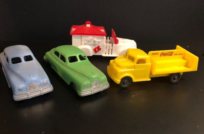Vintage 1950's plastic toys