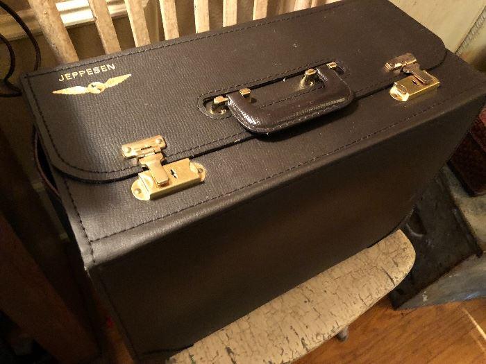 Vintage Jeppesen Pilot Flight brief case
