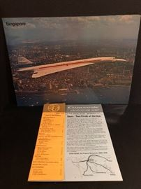 Vintage promotional brochure and posters for the super sonic Concord published  in 1973