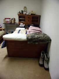 Great Captains Bed with under storage and bookcase headboard