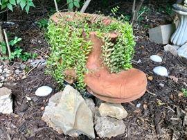 Large Terra Cota Boot Planter
