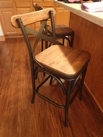 INDUSTRIAL LOOK COUNTER STOOLS X 2