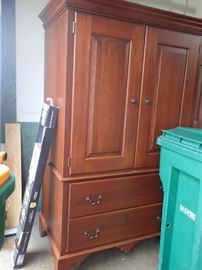 CHERRY BEDROOM SET / ARMOIRE /  DRESSER / BED / MATTRESS