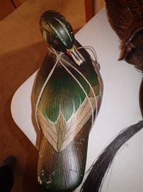 WOOD CARVED DUCKS