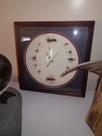 FISHING FLY CLOCK