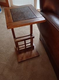WOOD / SLATE SOFA TABLE