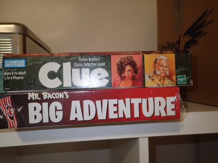 CLUE / BIG ADVENTURE GAMES