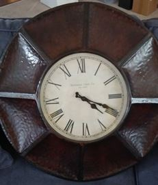 HAMMERED COPPER CLOCK / LARGE ROUND