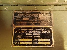 SWITCHBOARD  / ATLANTA GENERAL DEPOT 1951