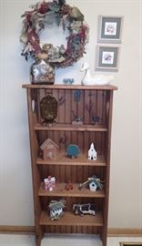 BOOKCASE WITH MISC DECOR