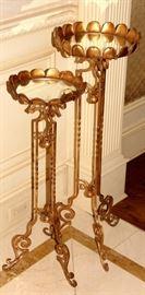 Gold framed plant holders