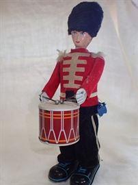 original vintage tin toy wind up mechanical Soldier DRUMMER NMIB-JAPAN