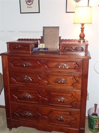 CARVED DRESSER WITH HANKIE DRAWERS