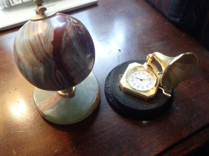 MARBLE GLOBE / MINI CLOCK