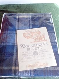 WASHABLE WOOL BLANKET NEW IN BAG