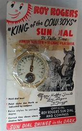 ROY ROGERS KING OF THE COWBOY'S SUN DIAL