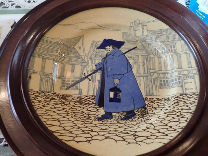 PLATE COLONIAL MAN IN BLUE COAT