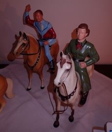 ROY ROGERS / HIS HORSE / DALE EVENS / HER HORSE