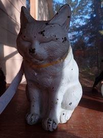 VINTAGE CAST IRON CAT DOOR STOP