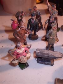 CAST IRON MADE IN ENGLAND TOY FIGURES WORKER