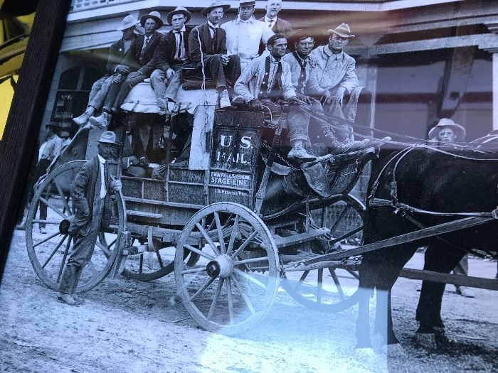 Original photo of actual stagecoach
