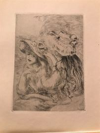 Original Renoir Etching