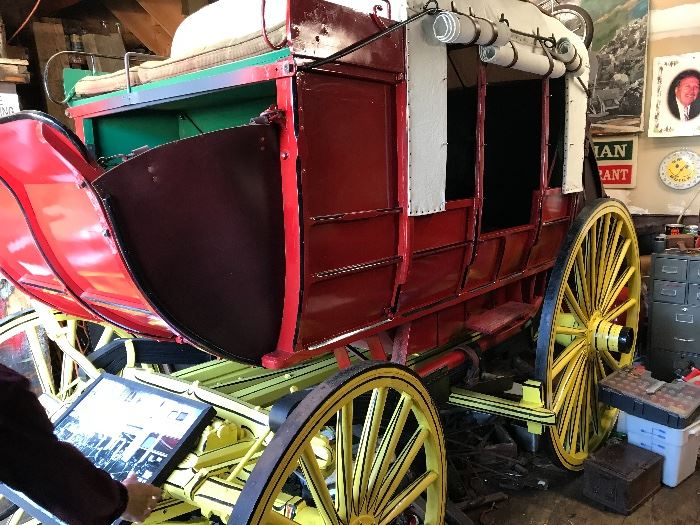Original 1870's Abbott-Downing Concord Stagecoach, beautifully restored to its glory with much of its original parts. A must see!! Not many of these around anymore, a true museum piece!! Not a reproduction, an authentic real Concord Coach!!