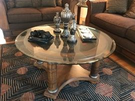 Matching Glass top table