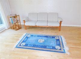 Beautiful blue swan rug