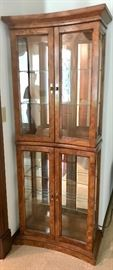 Vintage Concave Curved Front Curio Cabinet