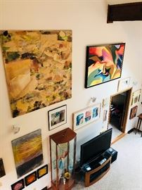 Matthew Kolodziej, Maze 2004, Akron. Large painting left