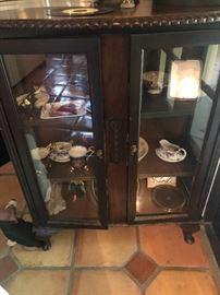 Vintage Curio Console Display Cabinet