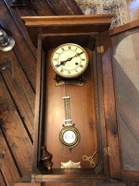 Antique R A wall clock