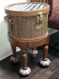 Mackenzie Childs basket stool