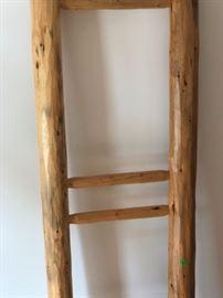 Vintage quilt ladder