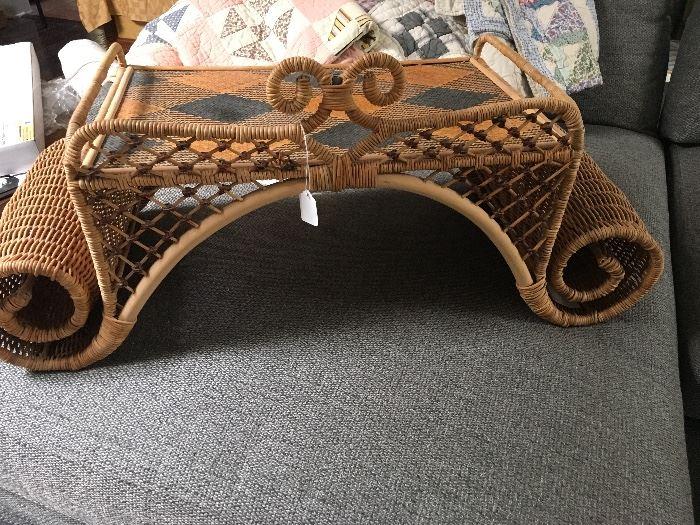 Retired Mackenzie Child's Vivaldi rattan tray