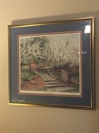 """Where It All Began"" Cherry Blossom Framed Print"