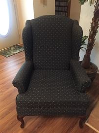 Queen Anne Style Upholstered Chair