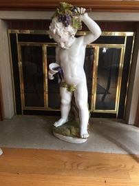 "Statue of Bacchus by Zaccagnini (38"" tall)."