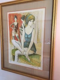 Signed colored lithograph by Jacques Lalande.