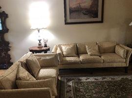 Formal sofas.