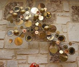 Vintage brass wall art