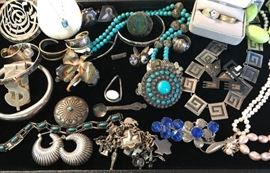Cute sterling and costume jewelry