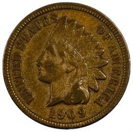 1909 S Indian Head 1c