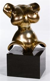 After Gaston Lachaise American 1882 1935 Torso Gilt Bronze