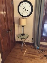 Clock, Lamp, Table Lot