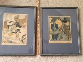 Two Framed French magazines