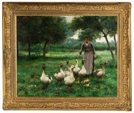 """Thérèse Marthe Françoise Cotard-Dupré (French, 1877-1921) """"Le Gardeuse d'oie"""""""