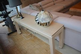 Console Table, Table Lamp, Decorative Pot and Sectional