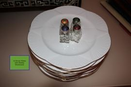 12 Dinner Plates with Shelley Dinnerware Set